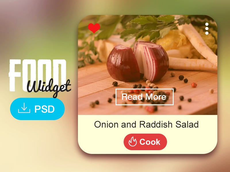 Food Widget PSD