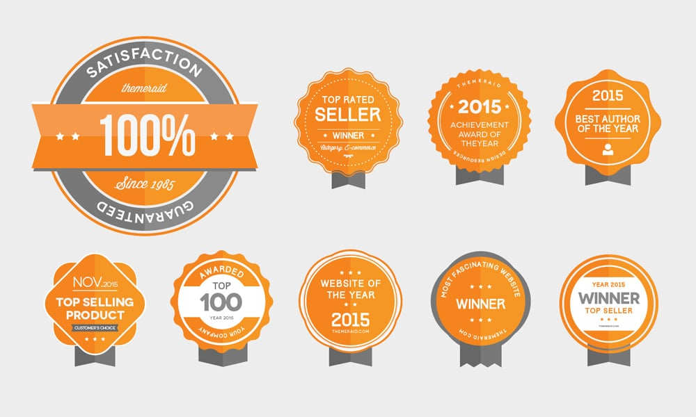 Free Award Badges Vector