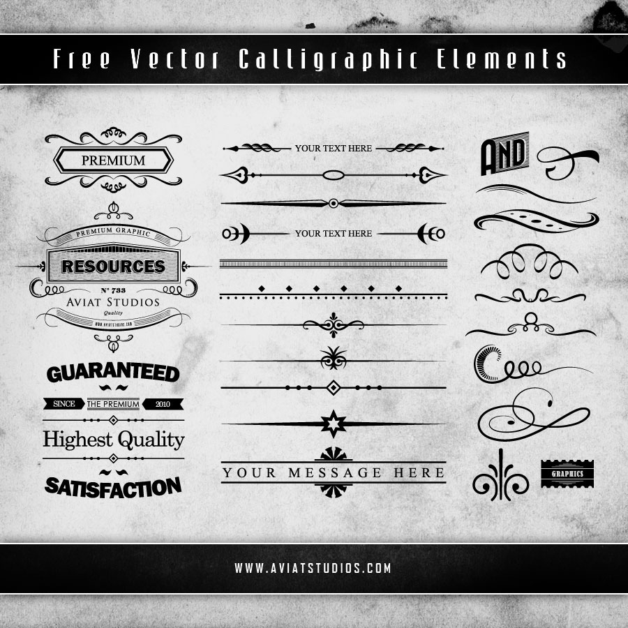 Free Calligraphic Decorative Vector Elements