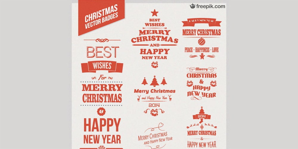Free Christmas Vector Badges