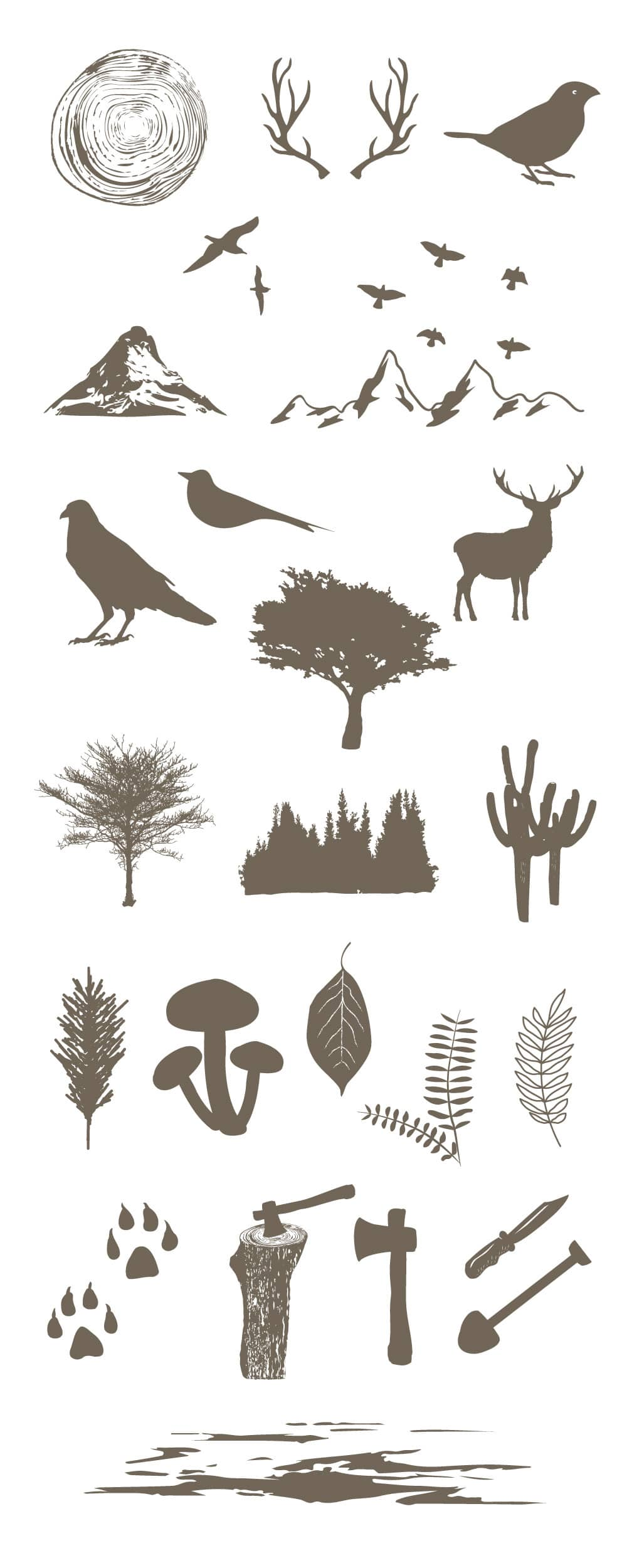 Free Forest Vector Elements