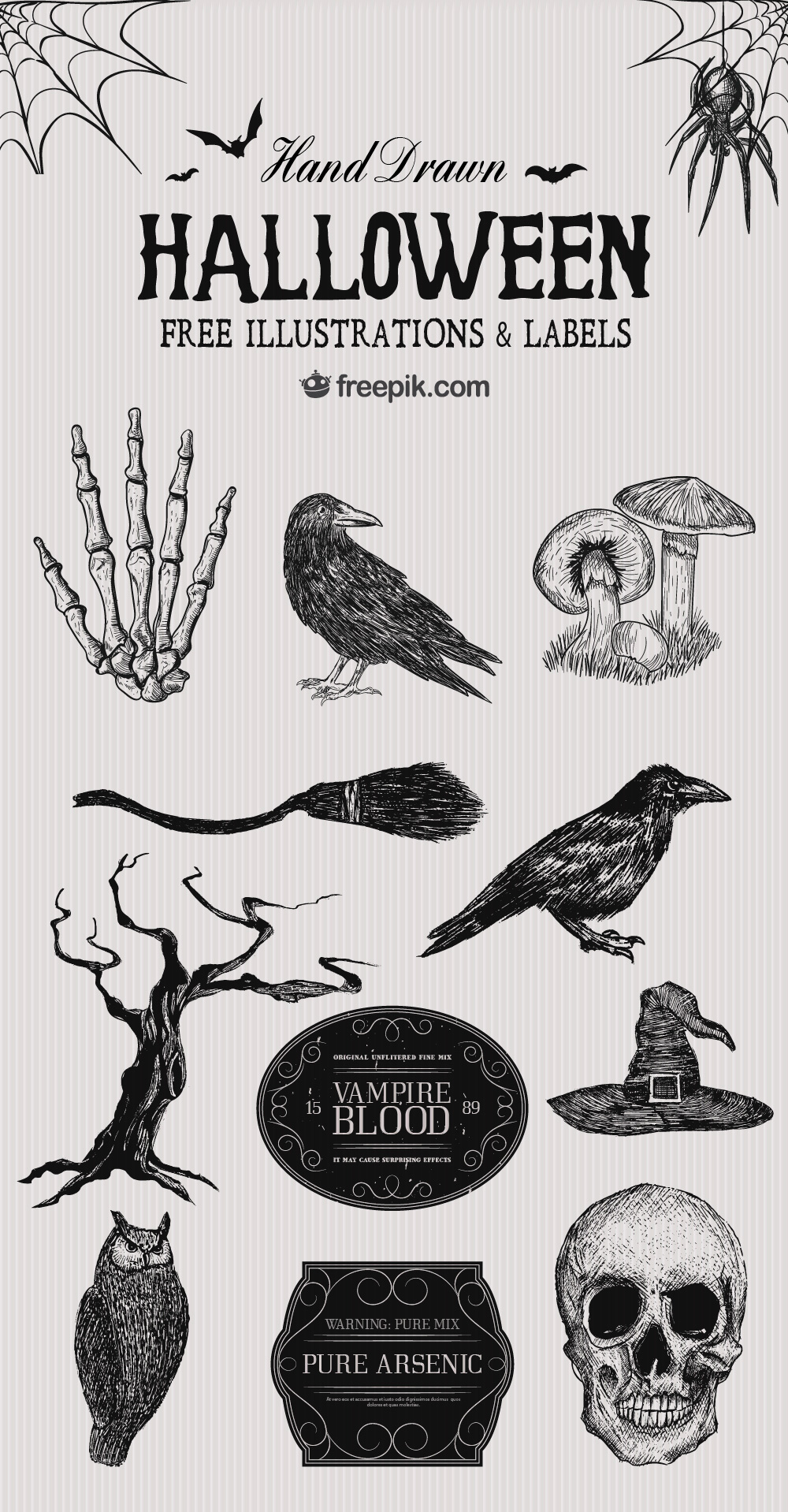 Free Halloween Illustrations & Labels