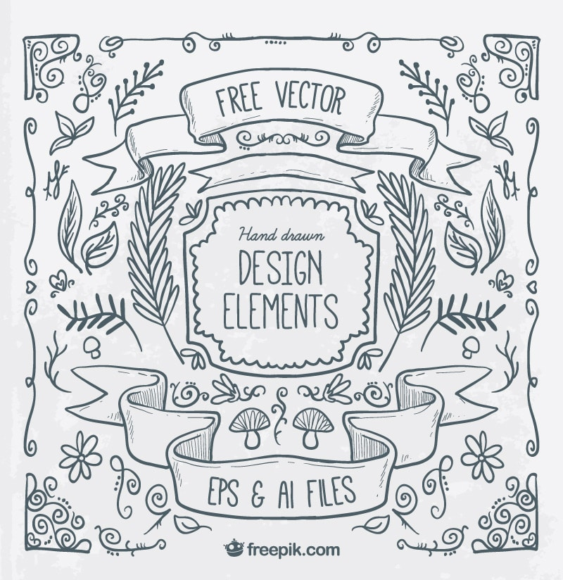 Free Hand Drawn Illustration Elements