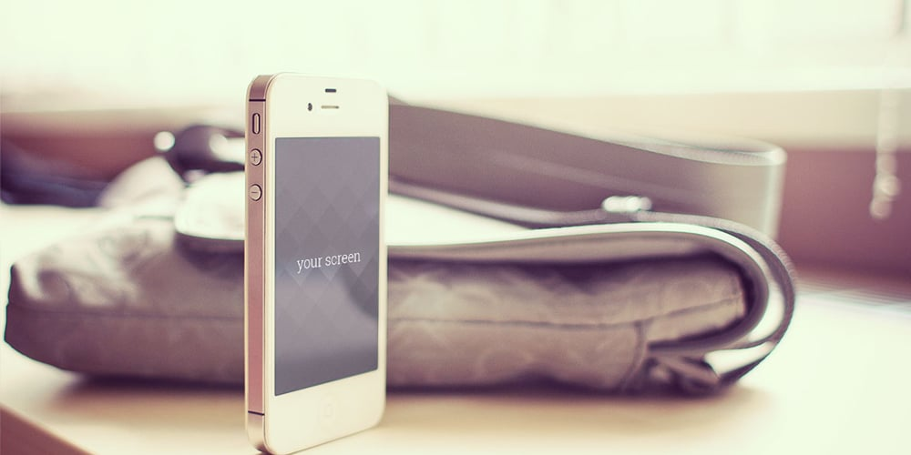 Free Iphone 5 photorealistic Mock Ups