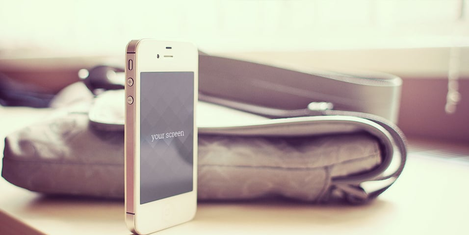 Free Iphone 5 photorealistic Mock Ups