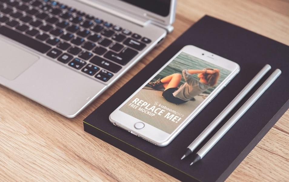 Free PSD Mock-Up: iPhone 6 Plus