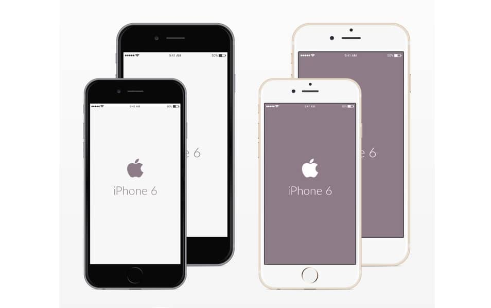 Free PSD iPhone 6 Mockups