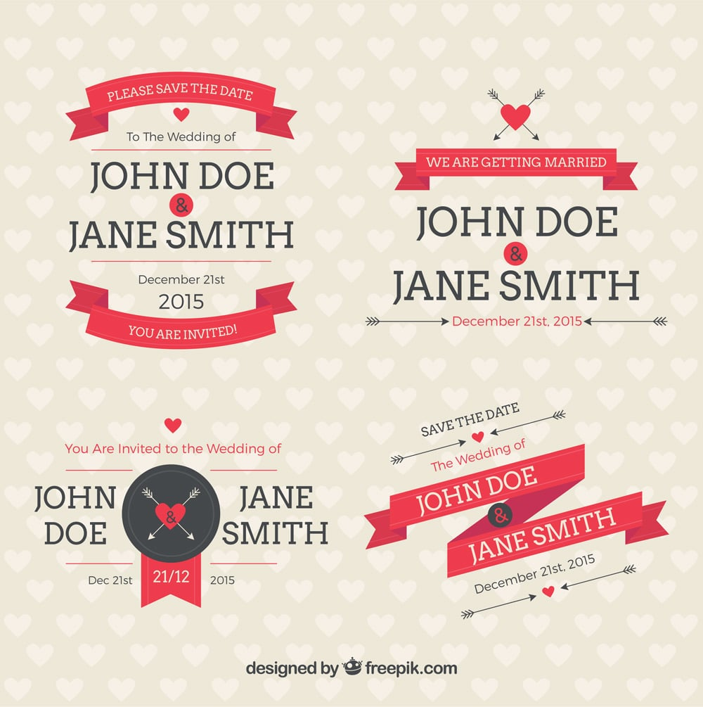 Free Retro Wedding Badges