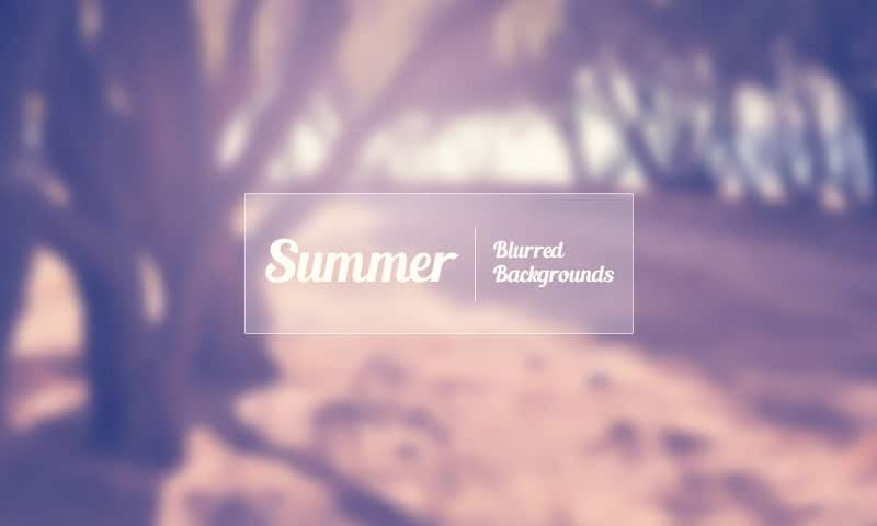Free Summer Blurred Backgrounds