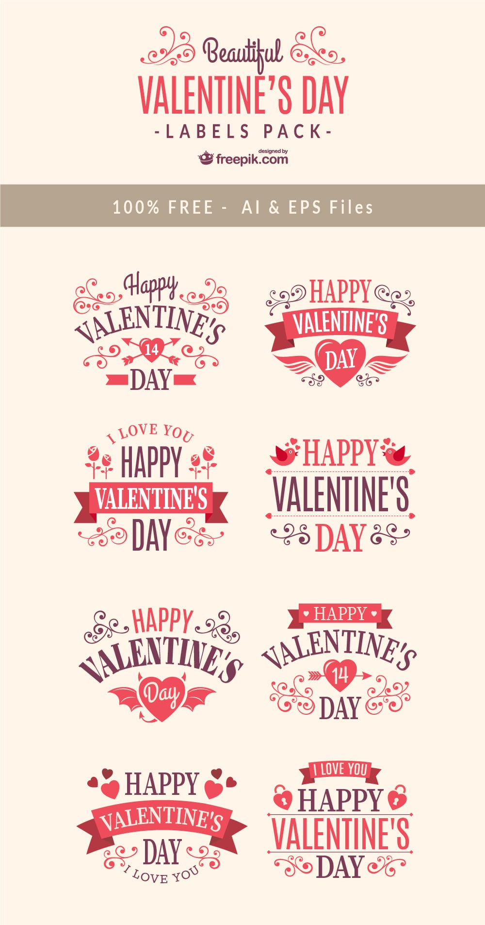 Free Valentines Day Label Designs