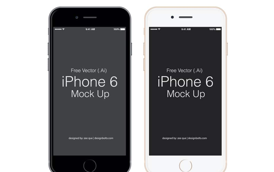 Free Vector Apple iPhone 6 Mockup