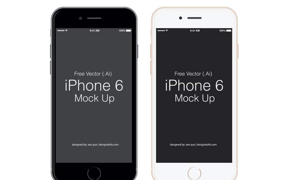 Free Vector Apple iPhone 6 Mockup