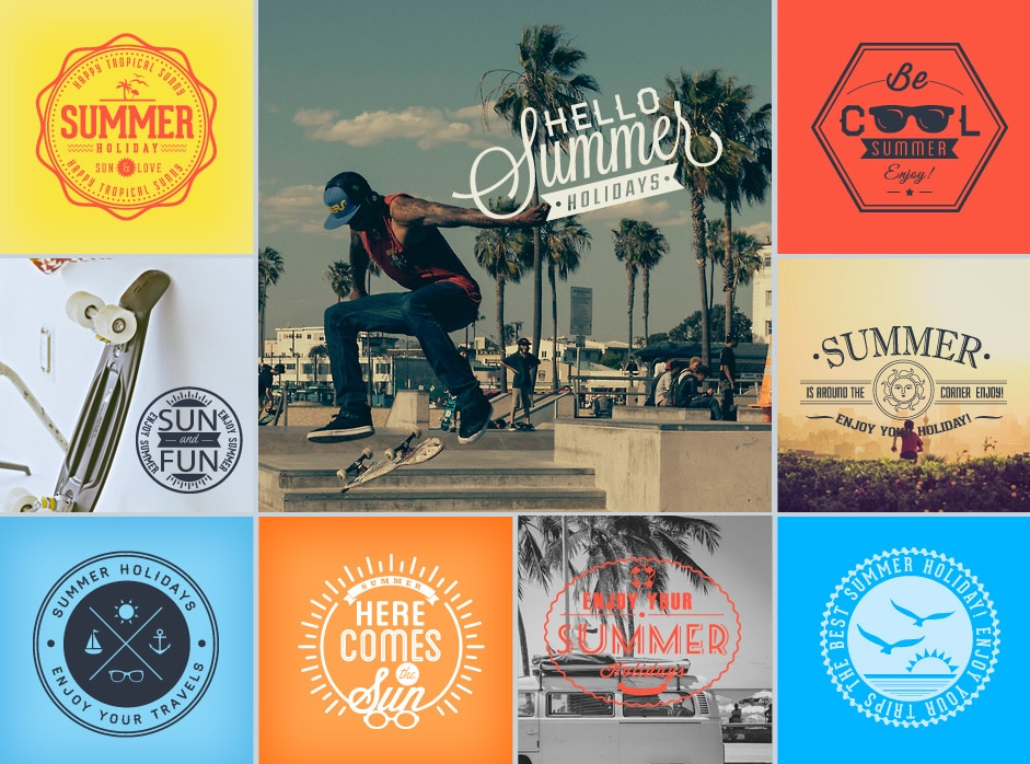 Free Vector Pack for Summer