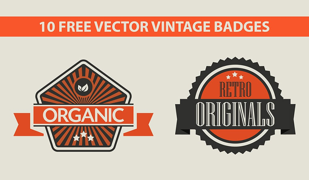 Free Vector Vintage Badges