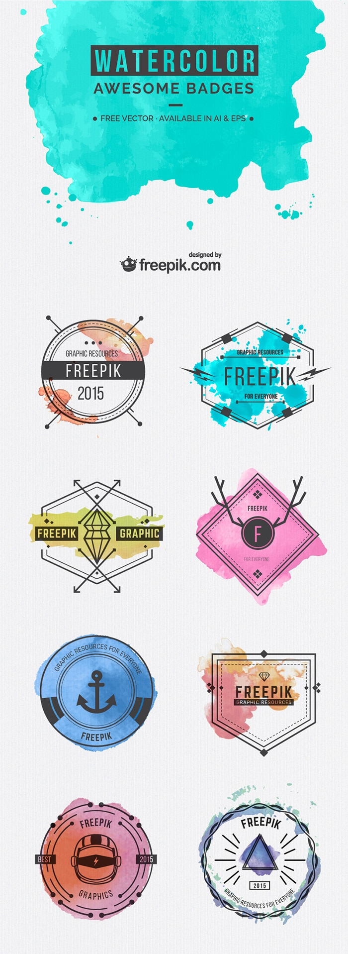 Free-Watercolor-Badges