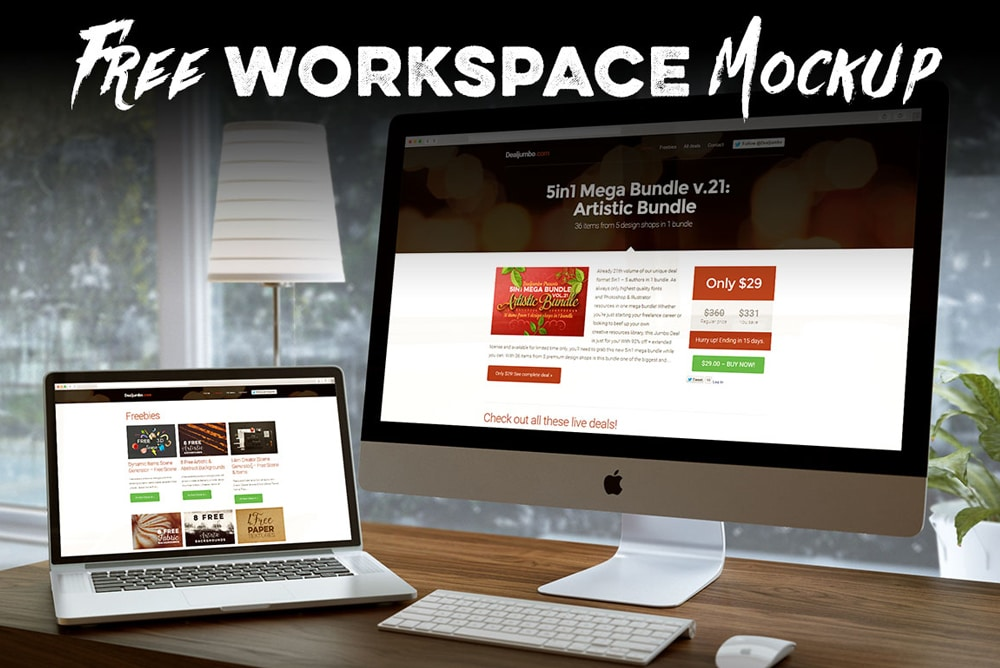 Free Workspace Mock up PSD