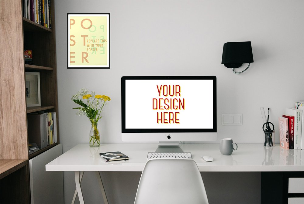 Free Workspace Presentation Mockup PSD