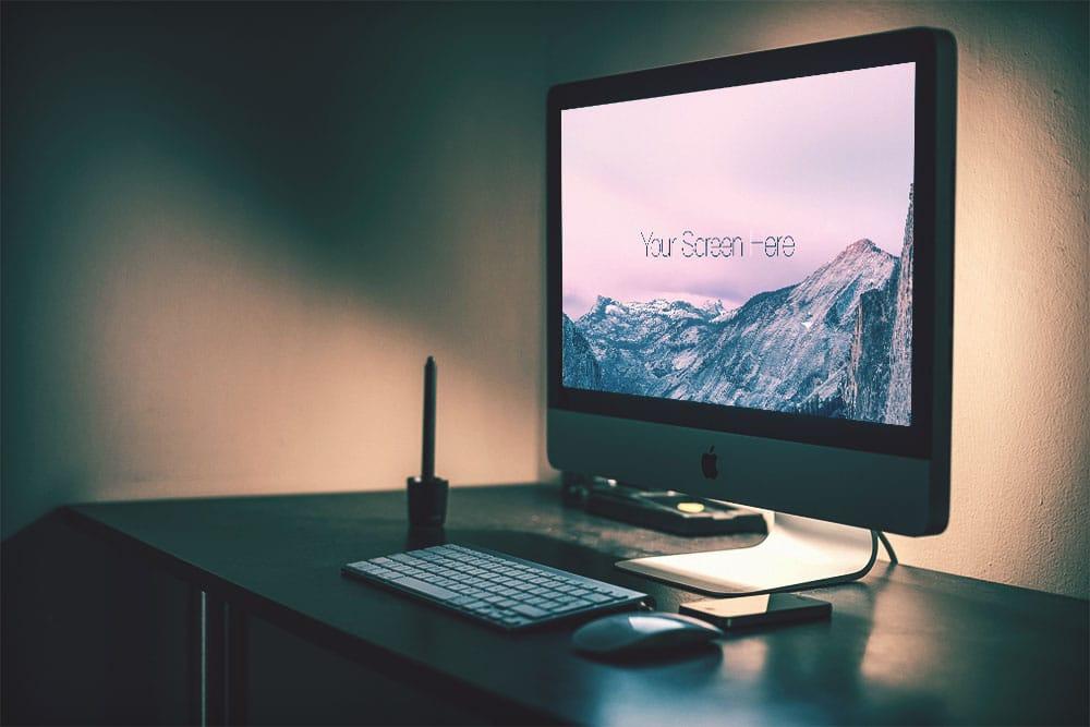 Free iMac Photorealistic Mockups