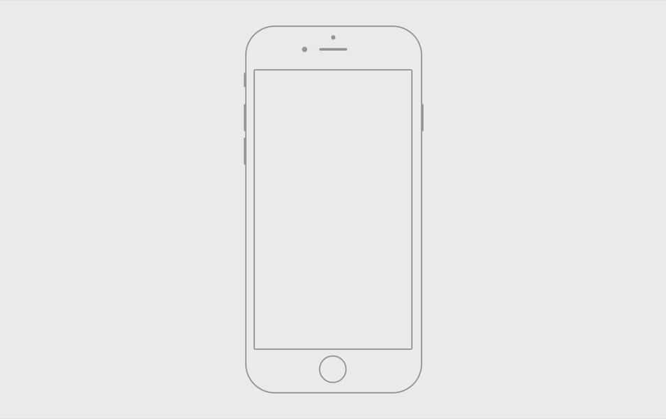 Handmade iPhone 6 wireframe