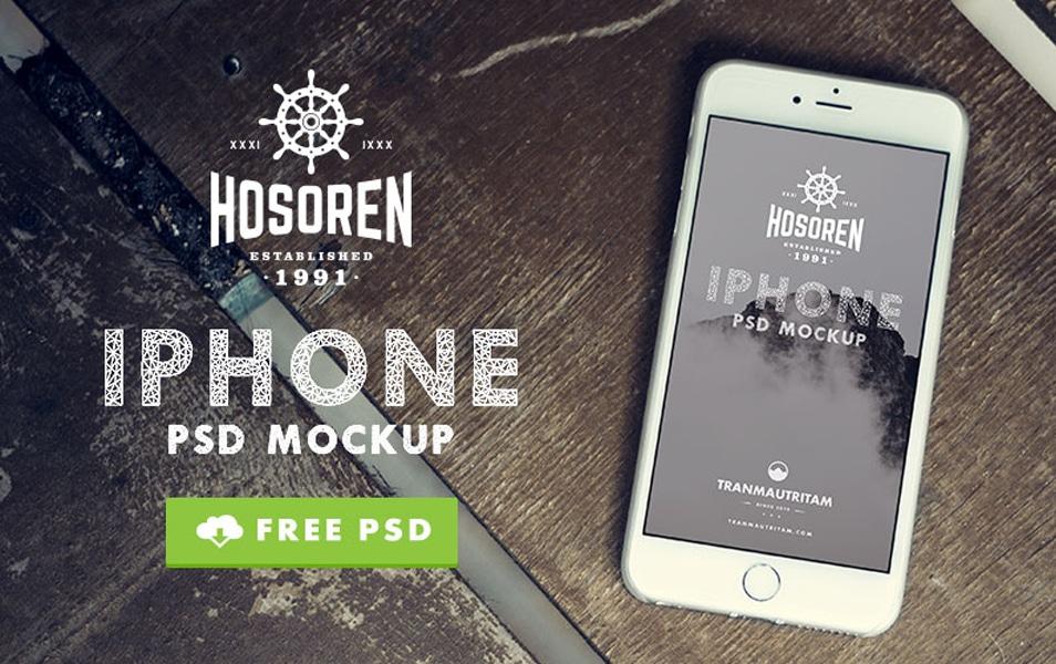Hosoren – 10 Photorealistic iPhone 6 Free PSD Mockups