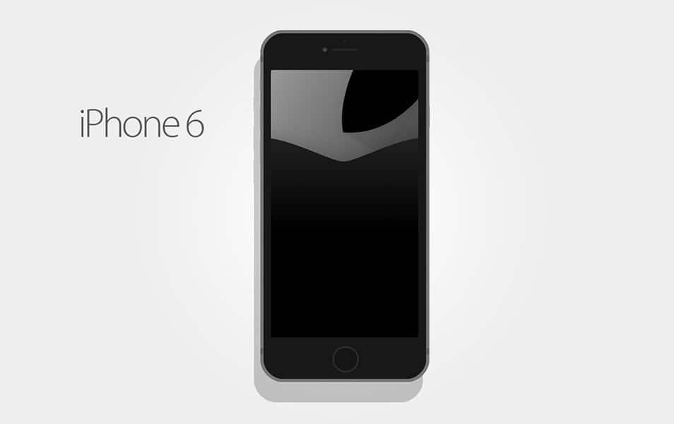 Iphone 6 Flat Mockup PSD