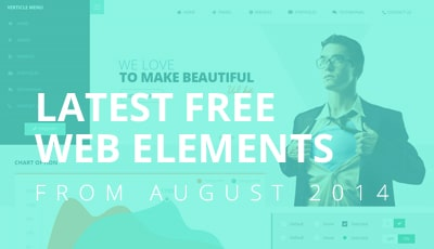 Latest Free Web Elements From August 2014