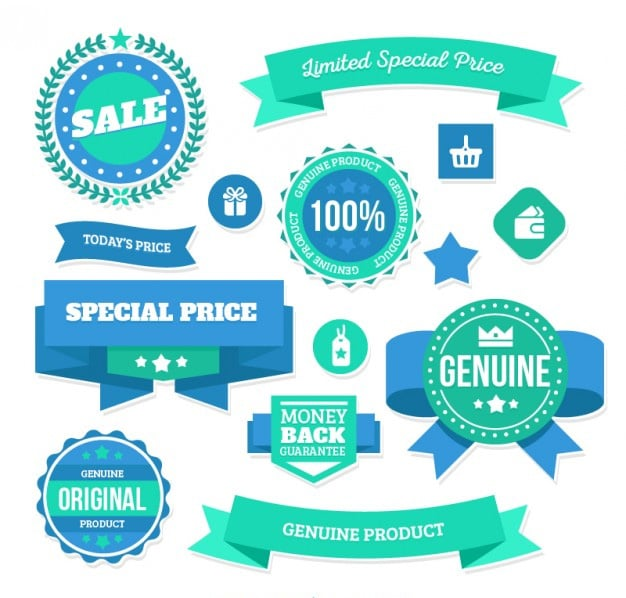 Limited Special Price Badges Vector
