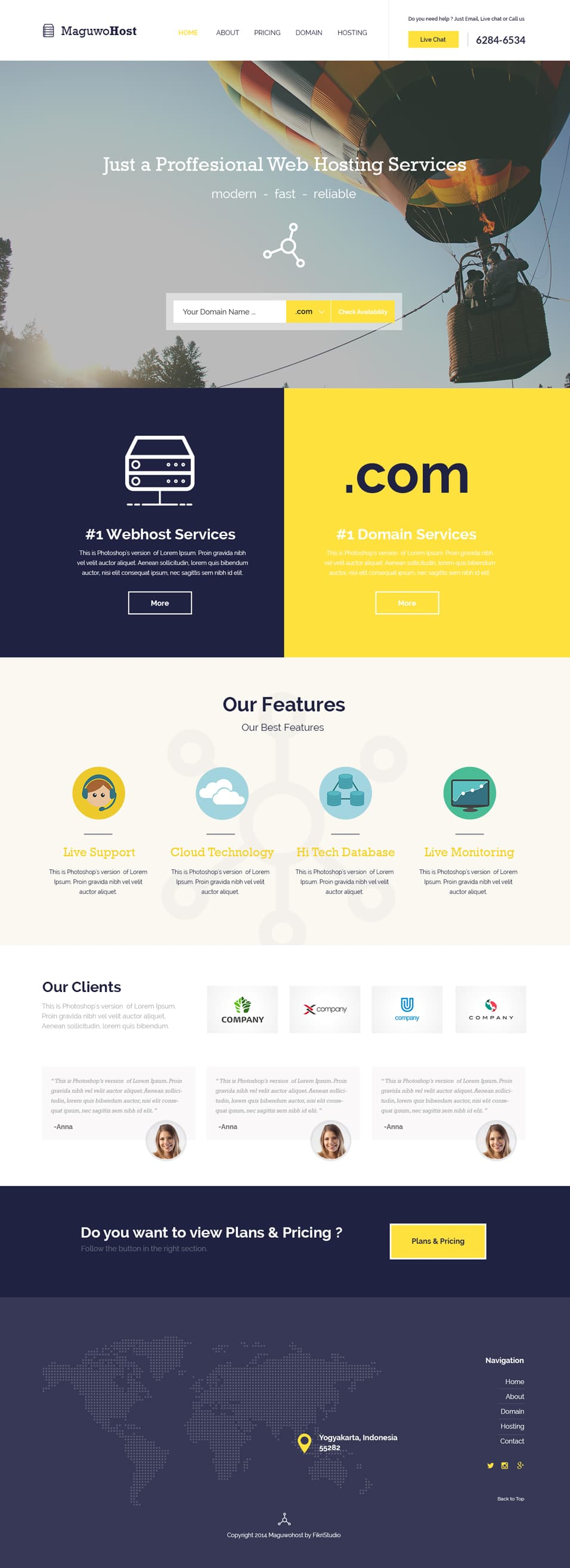 Maguwohost Free Hosting Template
