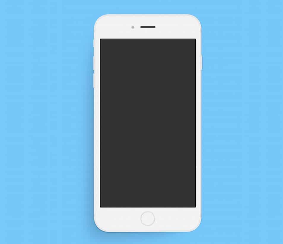 Minimal Apple iPhone 6 Plus PSD