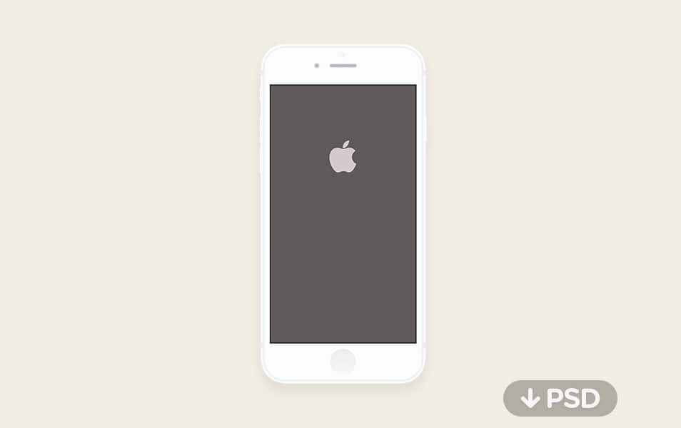 Minimal iPhone 6 Mockup PSD