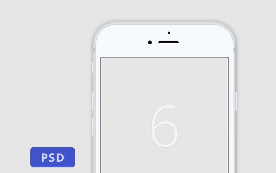 Minimalistic White Iphone 6 Mockup
