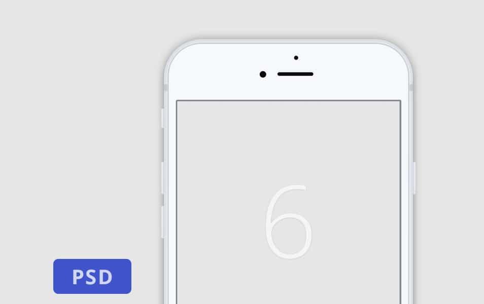 Minimalistic White Iphone 6 Mockup