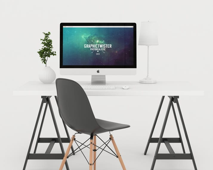 Photo Studio Workspace Mockup PSD