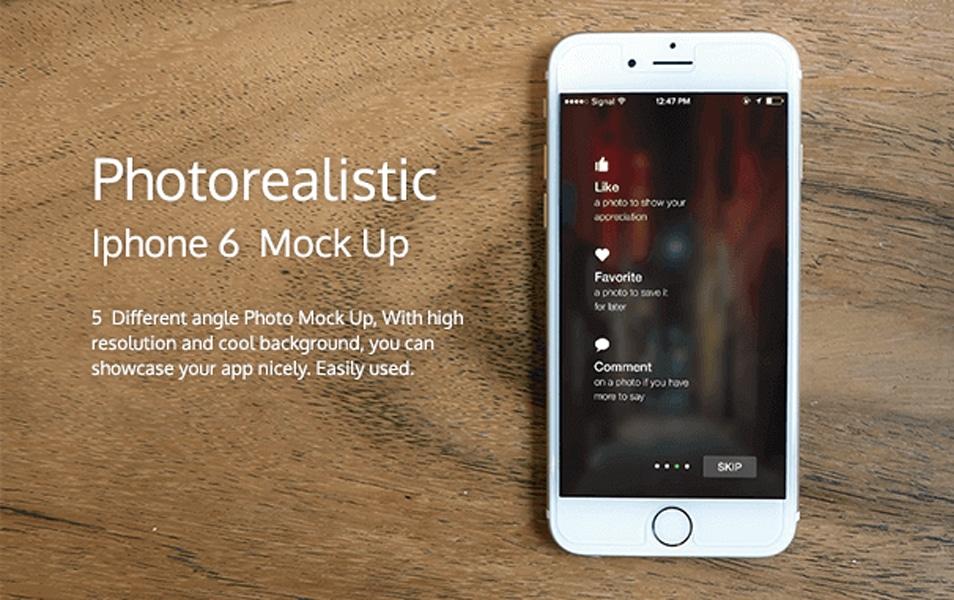 Photorealistic iphone 6 mockup