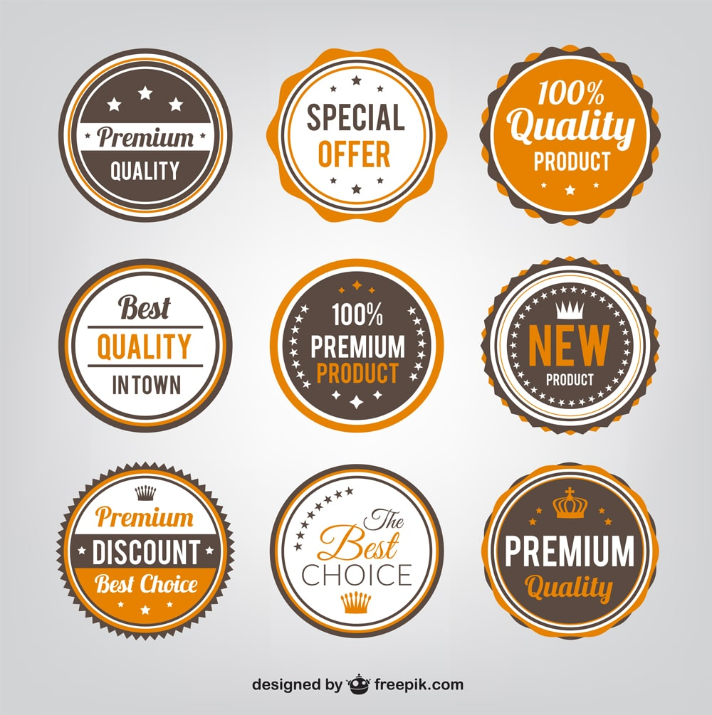 Quality Vintage Badges