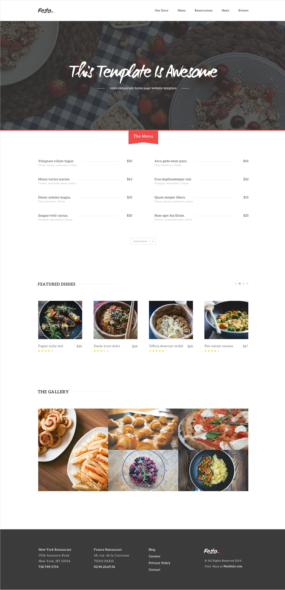 Resto Free Beautiful Restaurant PSD