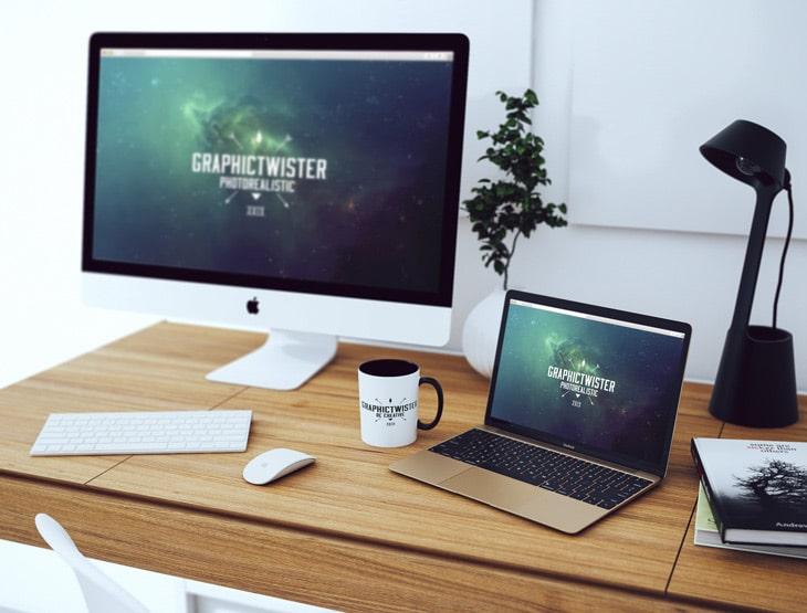 desktop mockup