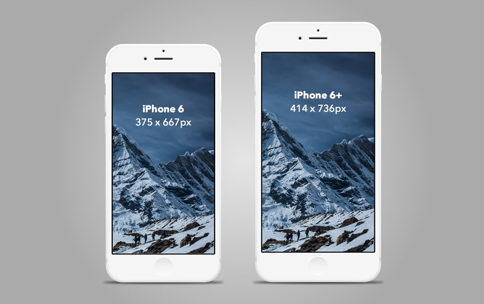 Slate style iPhone 6 / 6+ mockup [Sketch]