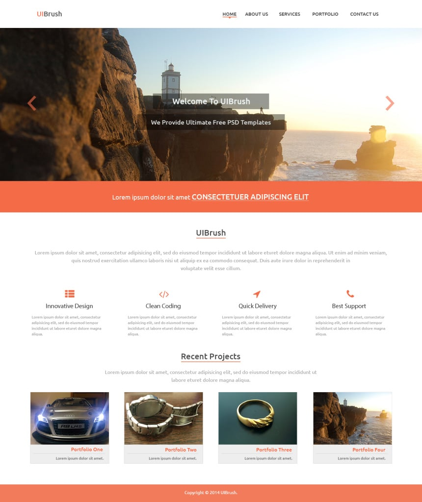 UIBrush Multi-Purpose Web Design PSD Template