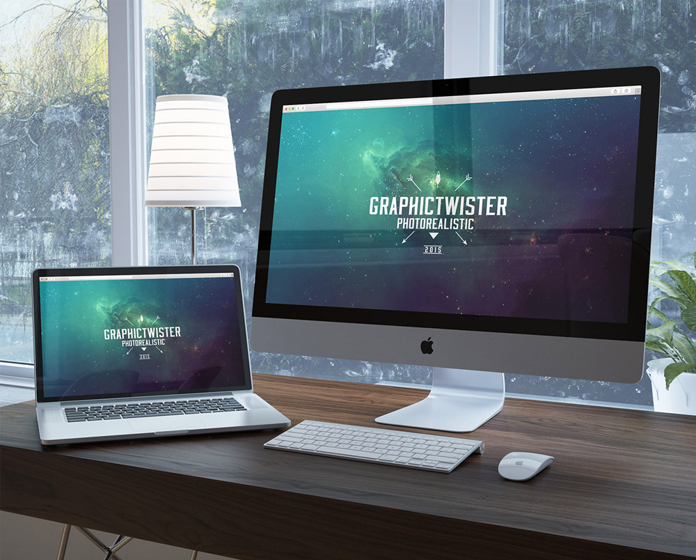 Unique Workspace Mockup