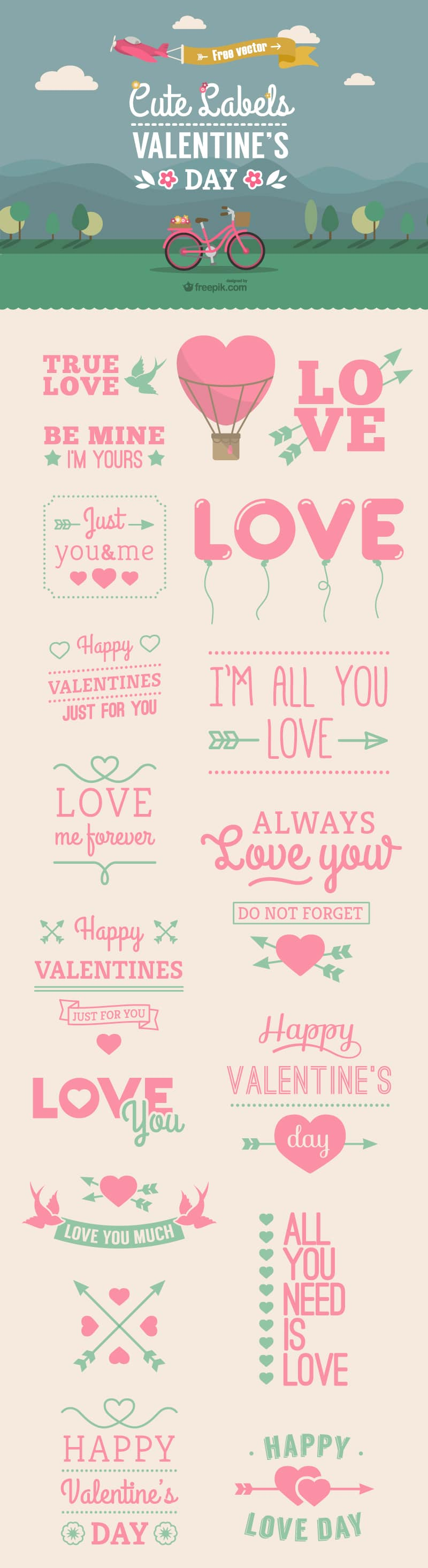 Valentine's Day Vectors Labels