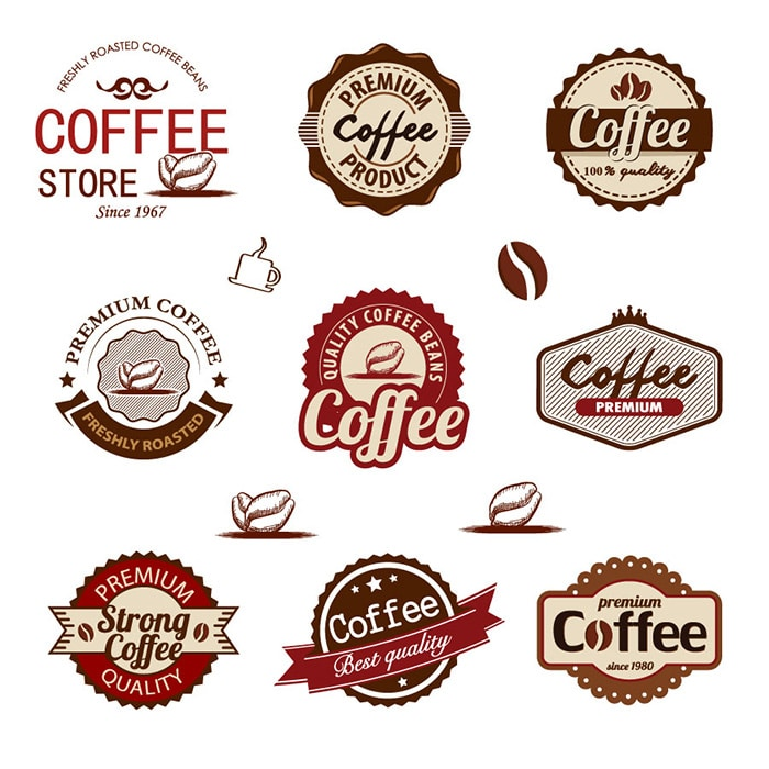 Vector Coffee Badges