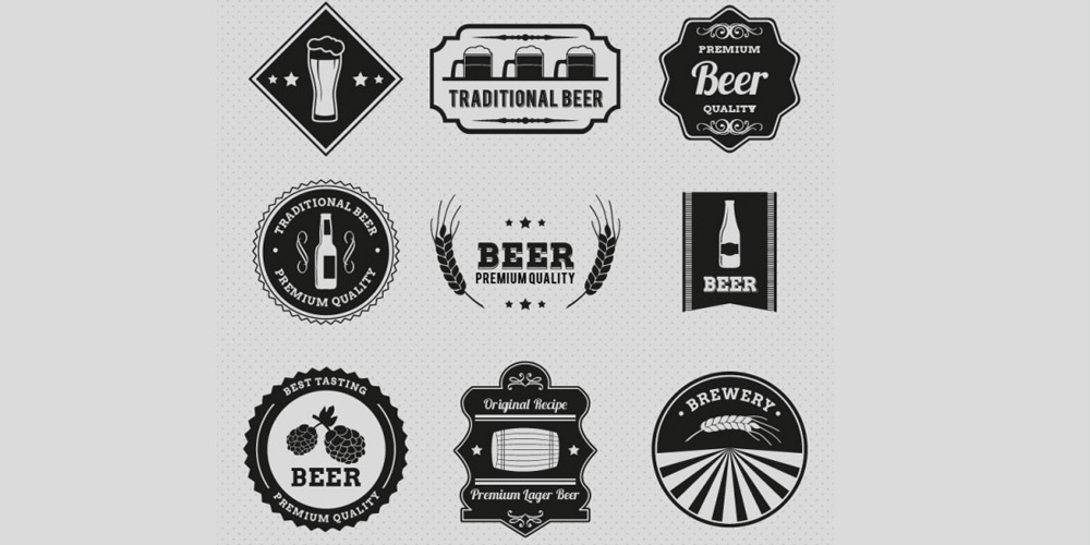 Vintage Beer Badges