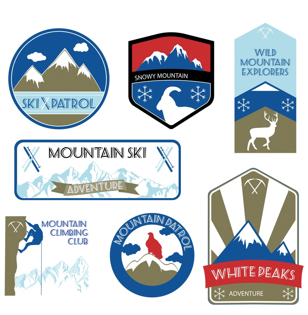 Vintage Mountain Labels