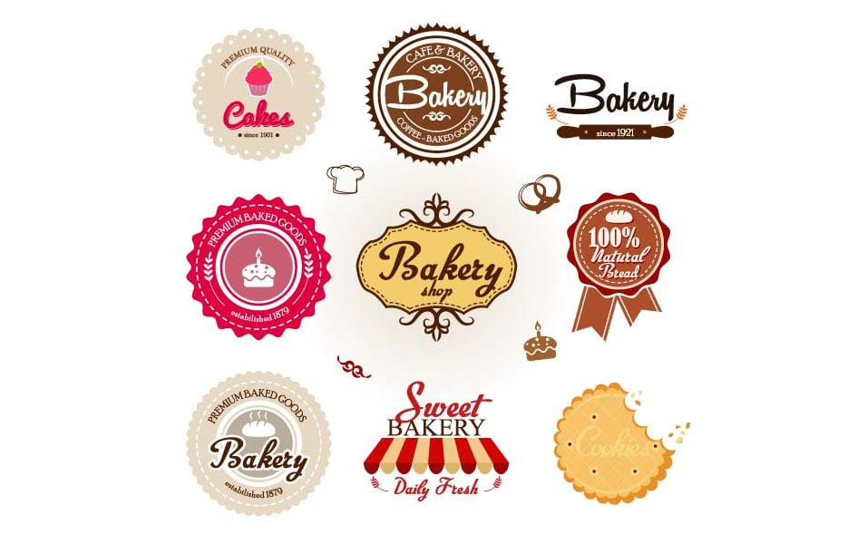 free bakery badges vector