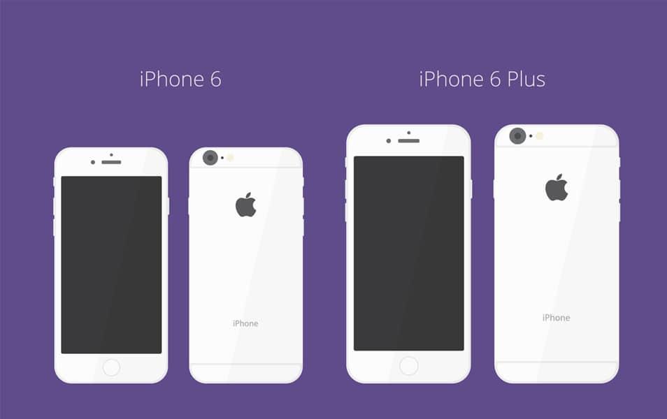iPhone 6 / 6+ Flat Mockup