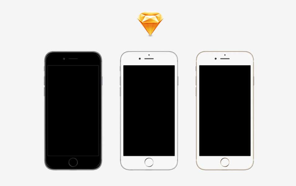iPhone 6 & 6 Plus Devices Sketch