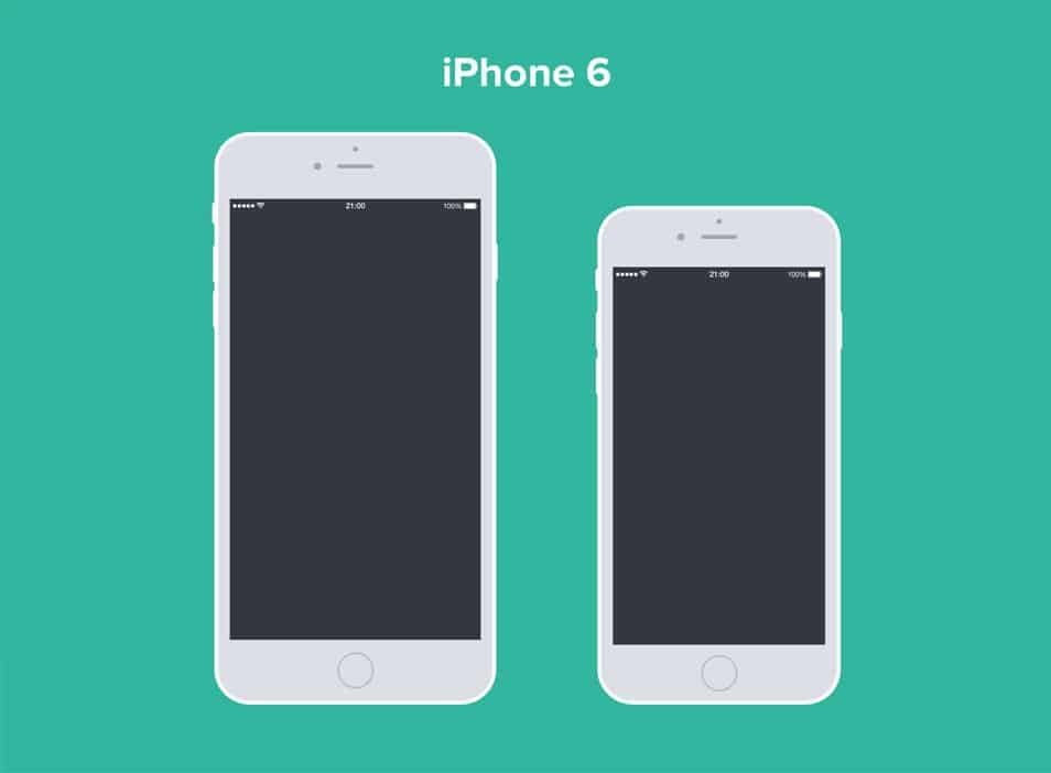 iPhone 6 & 6 Plus Free PSD Mockup