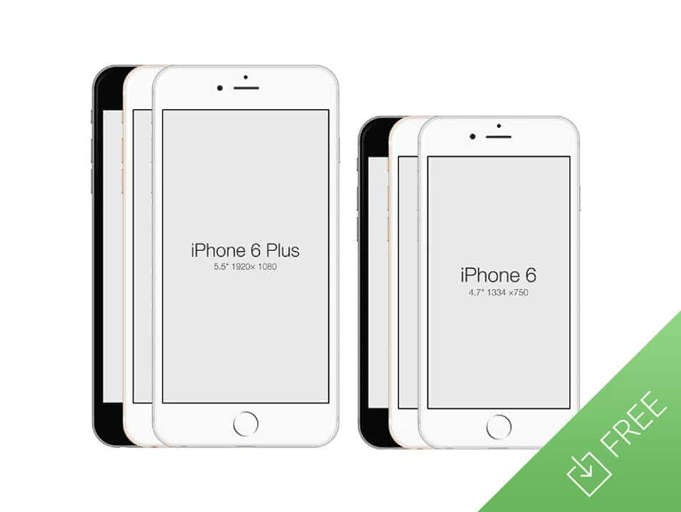 IPhone 6 Free PSD Mockup Template