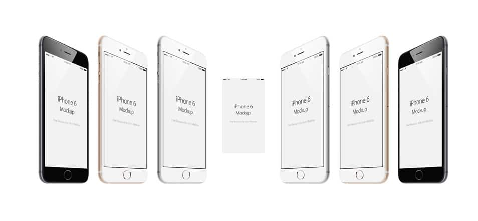 iPhone 6 Free angled PSD Mockup